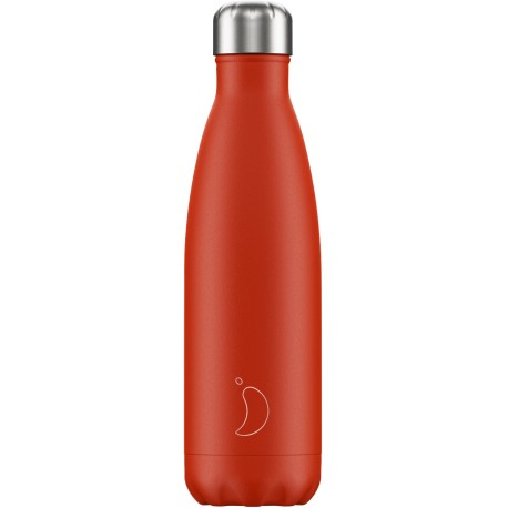Botella inox rojo neón de 500 ml