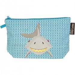 Estuche 100% algodón orgánico del tiburón