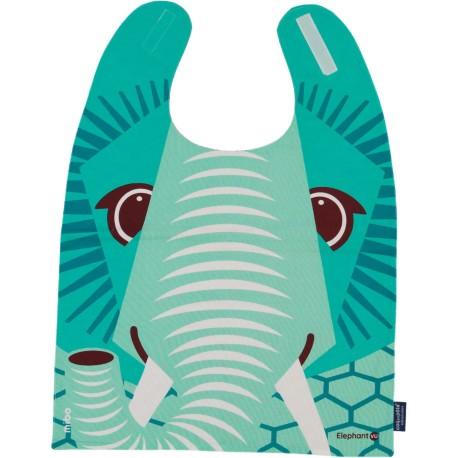 Babero gigante 100% algodón orgánico del elefante