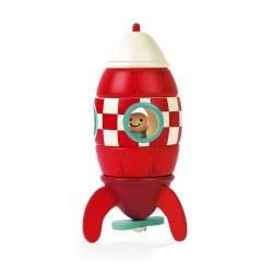 Cohete magnético de madera