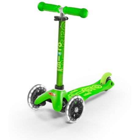 Patinete Mini Deluxe Verde con luces LED