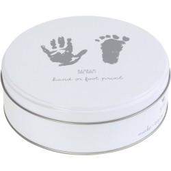 Cajita para guardar la huella de mano o pie (Foot/Hand Print) Imprime las huellas de manos y pies