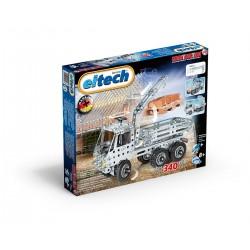 Set de construcción de camión grúa de acero inoxidable de 340 piezas