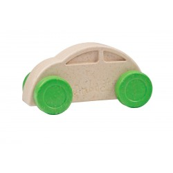 Coche blanco y verde eco-friendly y antibacteriano