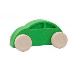 Coche verde y blanco eco-friendly y antibacteriano