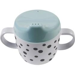 Taza con boquilla y asas azul (Happy dots)