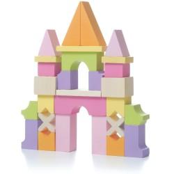 Set de bloques de construcción de madera - Castillo (Castle LZ-1)