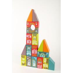 Set de bloques de construcción de madera - Ciudad Fabulosa 2 (Fabulous City LKM-2)