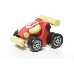 Coche mini Kart rojo de madera LM-2