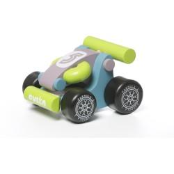 Coche mini Kart verde de madera LM-2
