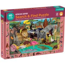 """Puzle """"busca y encuentra"""" de 64 piezas del safari"""