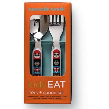 Cuchara y tenedor de la vajilla animalia (Dinnerware Animalia Fork & Spoon)