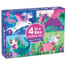 4 puzles en 1 de los amigos mágicos