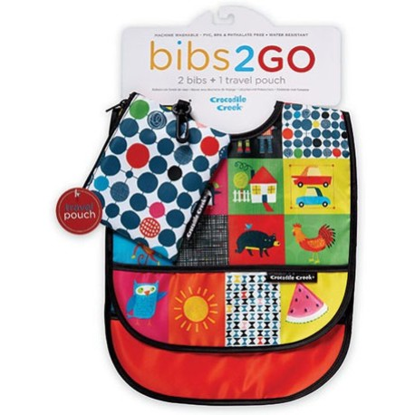 Pack de 2 baberos Bib2Go mundo bebé (Dinnerware Kids World Bib2Go)