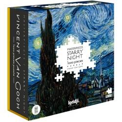 """Puzle de 1000 piezas """"Noche estrellada"""" de Van Gogh"""