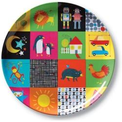 Plato de la vajilla mundo bebé (Dinnerware Kids World Plate)