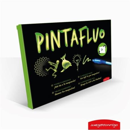 Pizarra fluorescente de 2 caras para dibujar PintaFluo A3