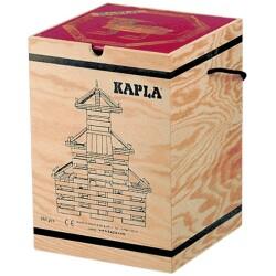 Caja de 280 piezas de madera de construcción + Libro de arte de KAPLA
