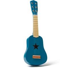 Guitarra azul de madera