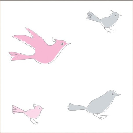 """Muselina de algodón """"for the birds"""" estampado tiny birds"""