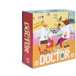 "Puzle de 36 piezas ""I WANT TO BE... DOCTOR"""