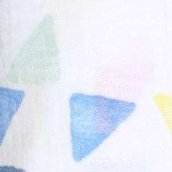 """Muselina de algodón """"leader classic swaddles"""" estampado triángulos de colores"""