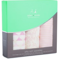 "Pack de 3 muselinas de viscosa de bambú ""metallic primrose birch silky soft"""