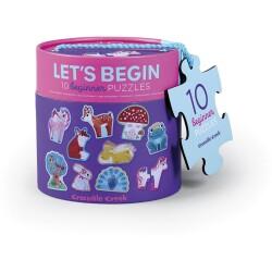 Set de 10 puzles de 2 piezas de los unicornios