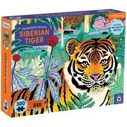 """Puzle de 300 piezas """"En peligro de extinción"""" del tigre siberiano"""