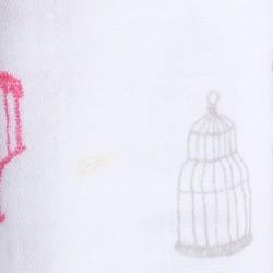 """Muselina de algodón """"lovebird swaddles"""" estampado jaulas"""