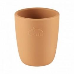 Mini vaso de silicona mostaza