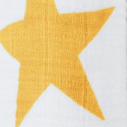 """Muselina de algodón """"super star swaddles"""" estampado amarillo"""