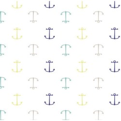"Muselina de algodón ""high seas swaddles"" estampado anchors"