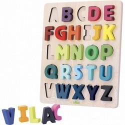 Tabla de madera para aprender el abecedario