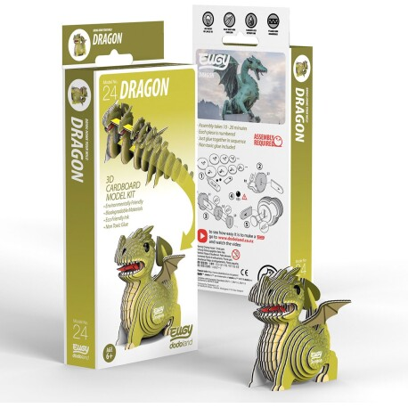 Puzle 3D Dragón Eugy de Dodoland