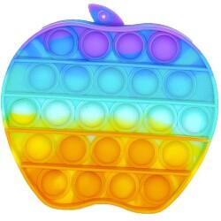 Juego sensorial y de relajación Pop it Fidget Toy Manzana arcoíris