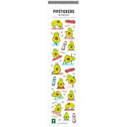 Hoja de pegatinas 5 x 20 PipStickers del Aguacate