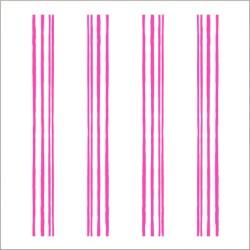 """Muselina pequeña de algodón """"fluro pink"""" estampado neon pencil stripe"""