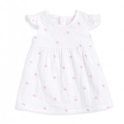 "Vestido de algodón ""rose water dot"" - AA1072-WDRG-03G"