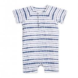 "Body sin mangas de algodón ""stripe indigo shibori"" - AA-AA1082-ISSB-03G"
