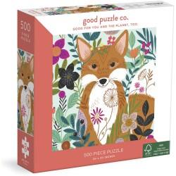 Puzle de 500 piezas Fox And Flowers