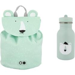 Pack mini mochila + botella 350 ml del oso polar