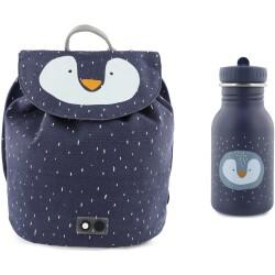 Pack mini mochila + botella 350 ml del pingüino