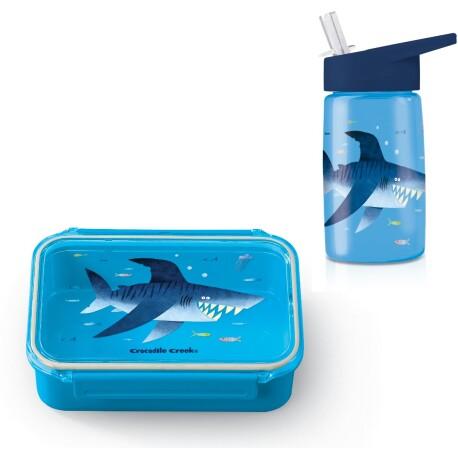 Pack de fiambrera Bento Box + botella de tritán del tiburón