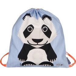 Mochila de cordones 100% algodón orgánico del panda