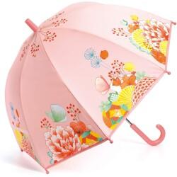 Paraguas de color del jardín de flores