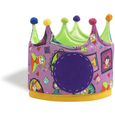 Corona de tela reversible con estampado de Superprincesas