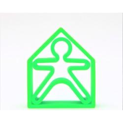 Kit de juguetes de silicona (muñeco + casa) de color verde