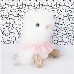 Pato de peluche blanco con tutú 22 cm