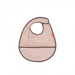 Babero impermeable rosa con velcro (Contour)